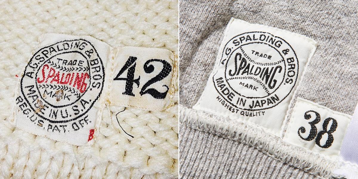 コレクターが唸る、独自のディテール。腰元のリブ上に配されたネームタグも、当時のロゴを忠実にデザイン。「サイドラインパーカ」|A.G. Spalding & Bros(エージー スポルディング&ブロス)
