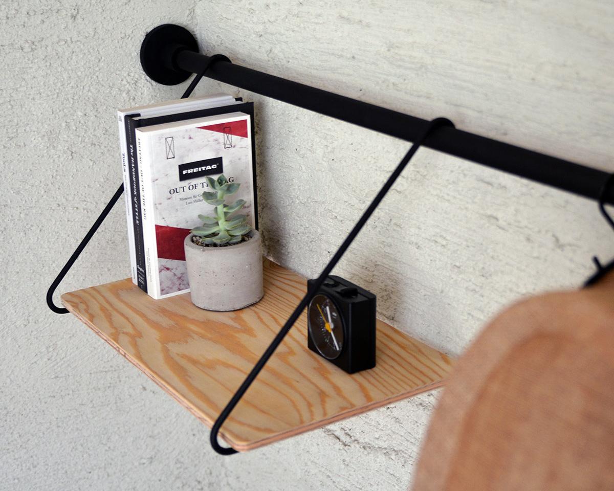 下棚|1本の線(ライン)に、鍵もバッグも指定席ができる「つっぱり棒」|DRAW A LINE