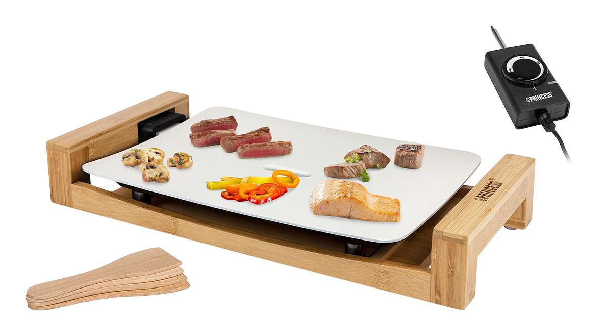 手軽だけど、美しく、おいしい時間を実現してくれるアイテム5点セットのテーブルグリルプレート・ホットプレート|PRINCESS社 Table Grill Mini