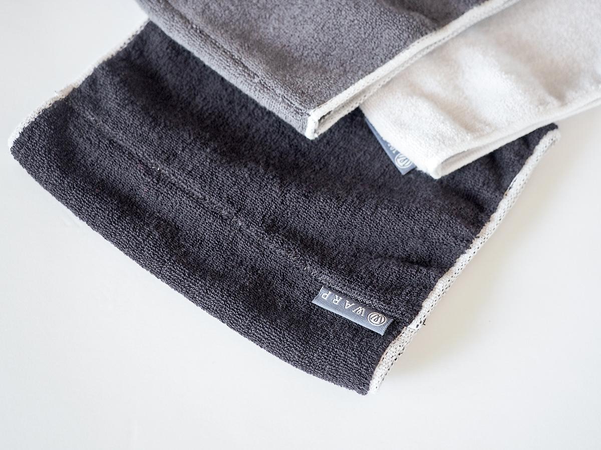 ジムでの運動中やランニングに、アウトドアに。ネックゲーター|酸化チタンと銀の作用で、生乾き臭・汗臭の菌を除去する「タオル」|WARP