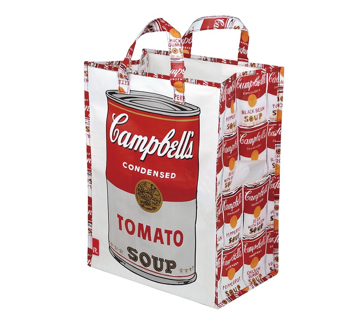 見た目にも楽しい アウトドア用のおしゃれなゴミ袋・ゴミバッグ|ROO Garbage(Campbell's Soup Cans)