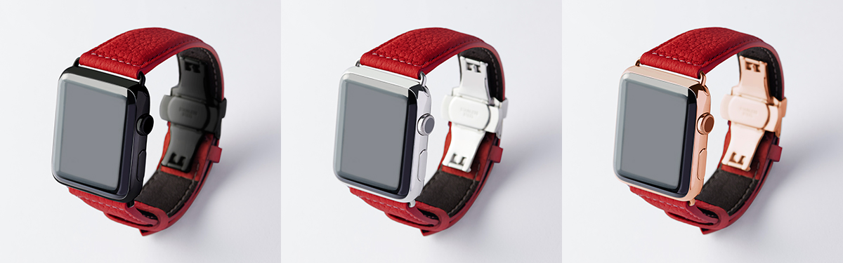 ベルジアンブラック|複数買いしたい、豊富なラインナップ。アクティブな腕元を洗練する、ワンタッチ着脱の「Apple Watchバンド」|EPONAS(エポナス)
