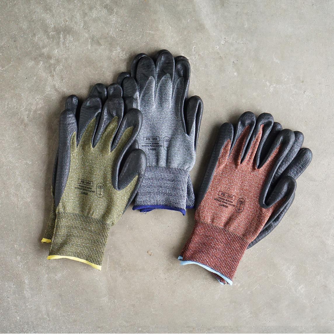 段ボールのゴミ出し、荷物ズッシリの買い物。ビンの固いフタを開けたり、家具を組立時に活躍。スマホを触れる。ネジもつまめる抜群のフィット感で、指先がスイスイ動く「作業用手袋」|workers gloves(ワーカーズグローブ)