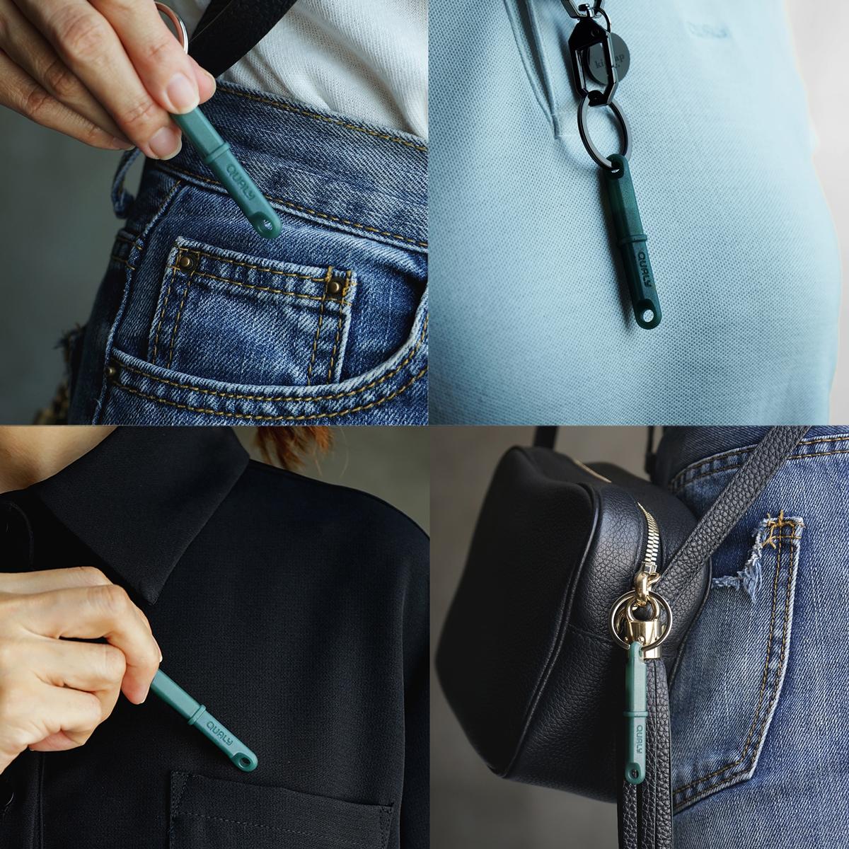 ポケットやバッグの中にそのまま収納しても、先端に付着した細菌やウィルスを拡散させないので、衛生的に持ち歩けます。ウィルスの接触感染を避ける、小さくてスリムな非接触ツール。衛生的に持ち歩ける「プッシュスティック」|QUALY