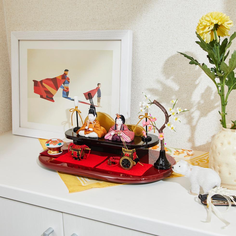 玄関に飾れるくらいコンパクトでおしゃれな木目込み雛人形 | 柿沼人形