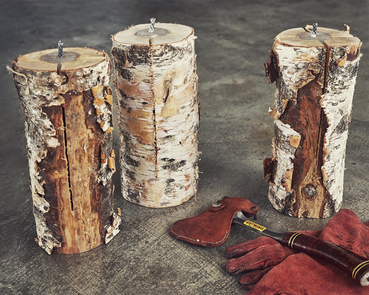 キャンドル一体型で一発着火、肉も焼ける「スウェディッシュトーチ」|Swedish Birch Candle(スウェディッシュ バーチ キャンドル)