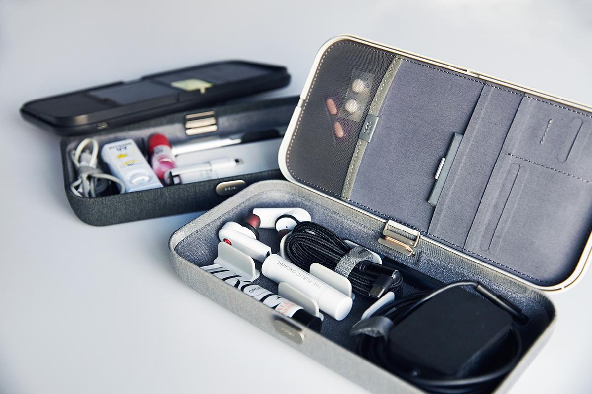 収納量たっぷり。よくあるガジェット用のポーチより、だいぶ大きめですが、使いやすさが違います。仕事道具を好みの配置で収納、ワイヤレス充電台つきの「ガジェットケース」|Orbitkey Nest(オービットキー ネスト)