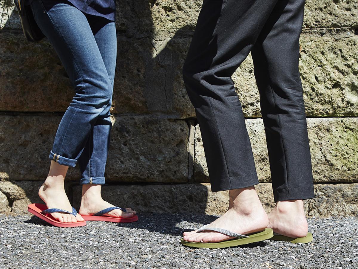 日本人の足型に合うお洒落なビーチサンダル|九十九(つくも)サンダル(VALENCIA、GALAPAGOS)