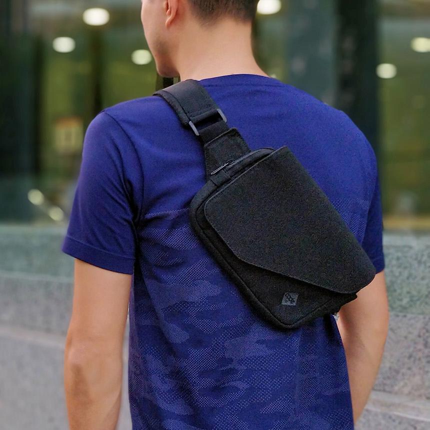 お出かけの移動時間をさらに快適なものにする大容量の着る財布(ボディーバッグ型財布)|Code10