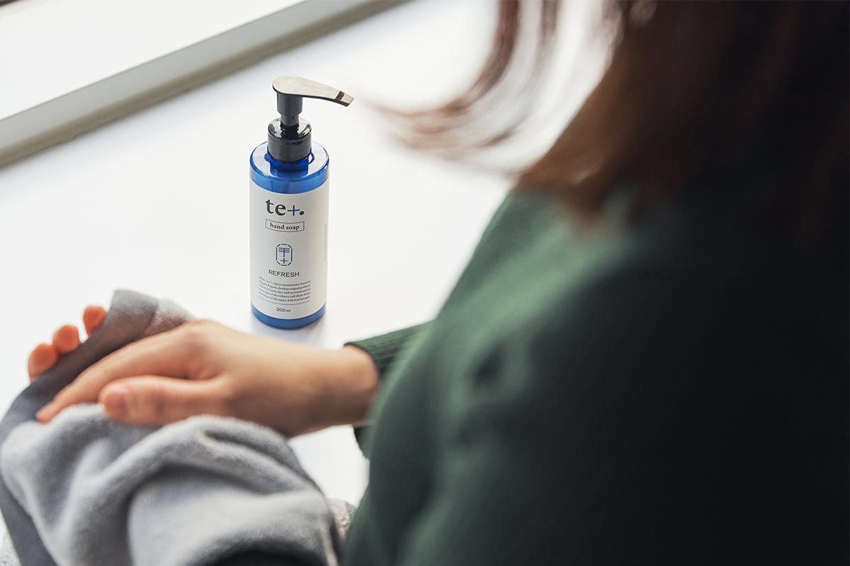 リモートワークやデスクワークのリフレッシュ、気分転換の手洗いにおすすめ。バンドソープ(液体石鹸)|tet. hand soap REFRESH(テト ハンドソープ リフレッシュ)