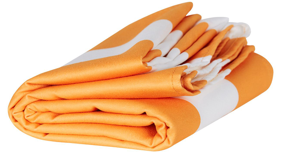 ブラジル・イパネマビーチのオレンジ(Ipanema Orange)|水をサッと吸収、砂がつかないマイクロファイバー製のカラフルタオル(ビーチタオル)|DOCK & BAY
