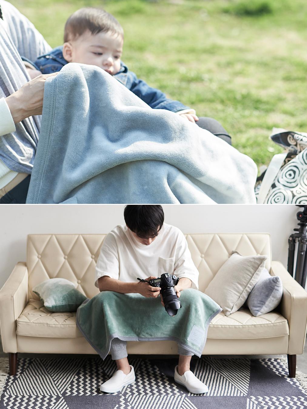 軽くて寝心地抜群。寝室の空間をセンスよくお洒落でスタイリッシュにしてくれる。肌触りと寝心地の良さで夏も冬も気持ちいい!ニューマイヤー織の綿毛布|FLOOD OF LIGHT(フルード オブ ライト、光の洪水)|LOOM&SPOOL