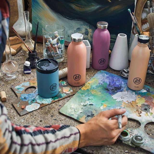 よくあるプラスチック製のボトルやキャップにはない、上質感を味わえる瞬間。毎日持ち歩きたくなる、色柄豊富なイタリアンデザインのマイボトル|24Bottles(トゥエンティーフォーボトルズ)