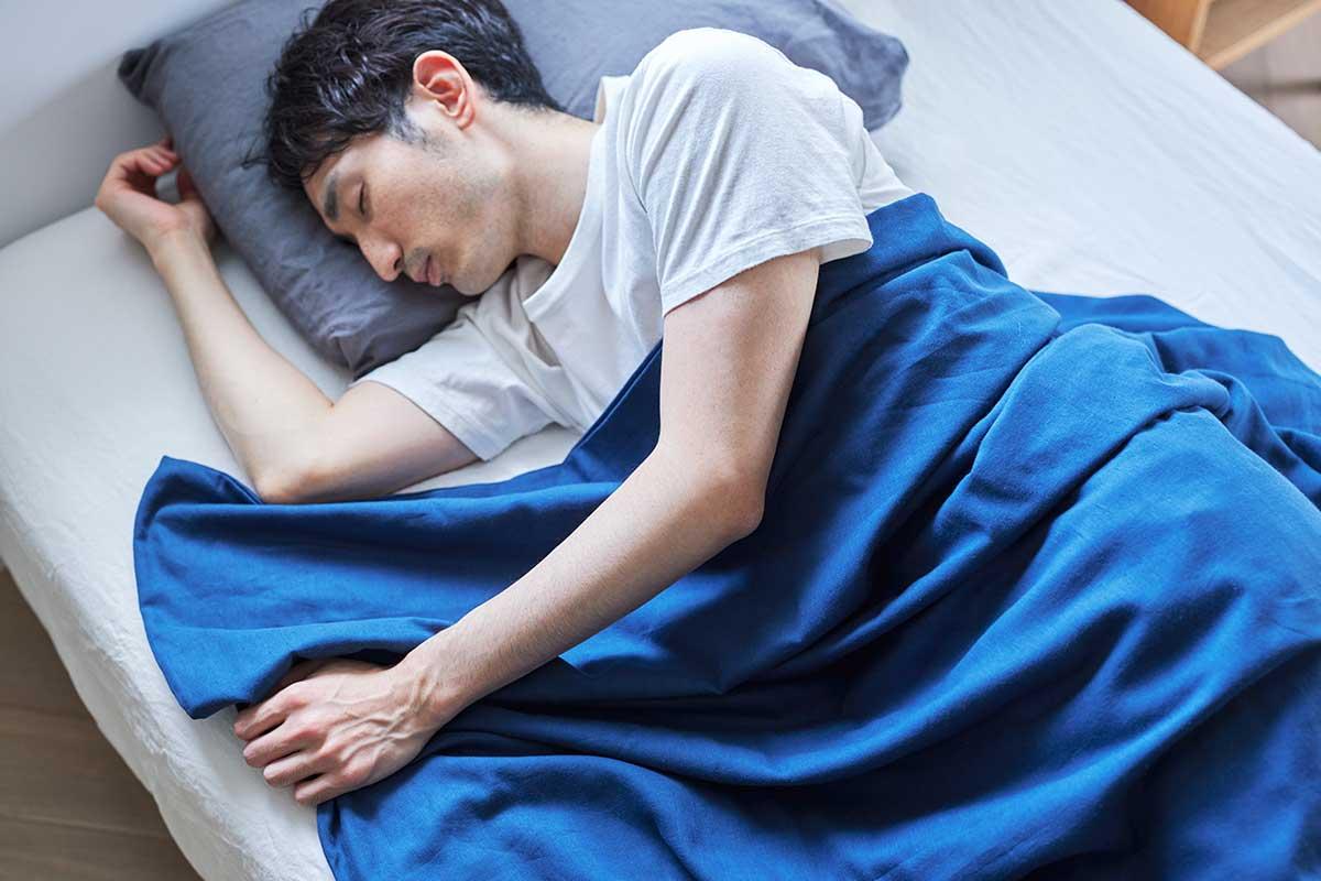 肌触りがよくてぐっすり眠れる、届いたその日から、肌にふんわりなじむ、柔らかい「ガーゼケット」|和晒し(わざらし)ガーゼカバーケット(肌掛け・布団)