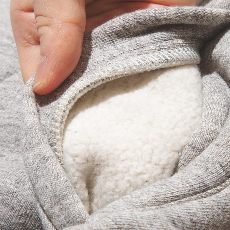独特の風合い、着込むほどにやわらかなタッチになっていく釣り編み機による、アウター感覚の風合いやわらかな「サイドラインパーカ」|A.G. Spalding & Bros