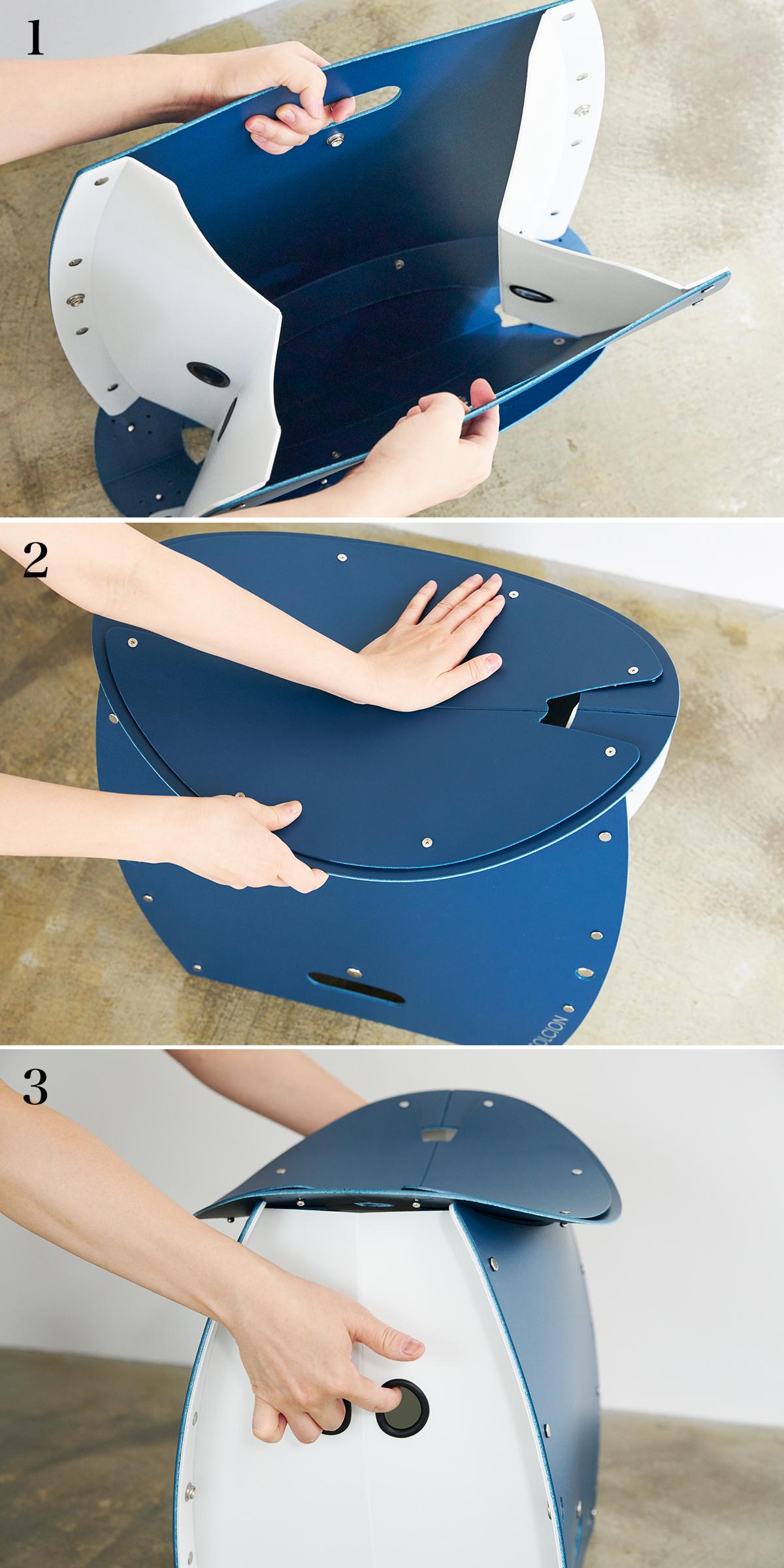 【組み立て方】座面を外せば、ゴミ箱・防災トイレが出現する「折りたたみイス」|PATATTO PATATTO 350+