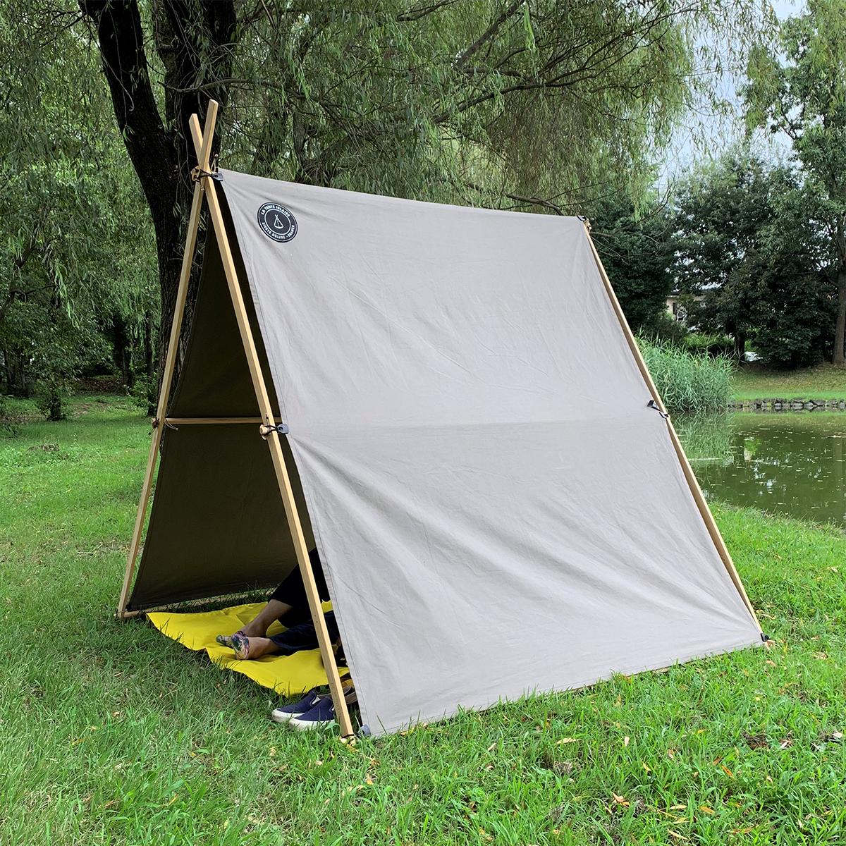 近所の公園に広げた『LA TENTE ISLAISE』の中でのんびり過ごしてみたら、驚くほど気持ちがリフレッシュできた「帆布テント」|LA TENTE ISLAISE(ラ・タント・イレーズ)