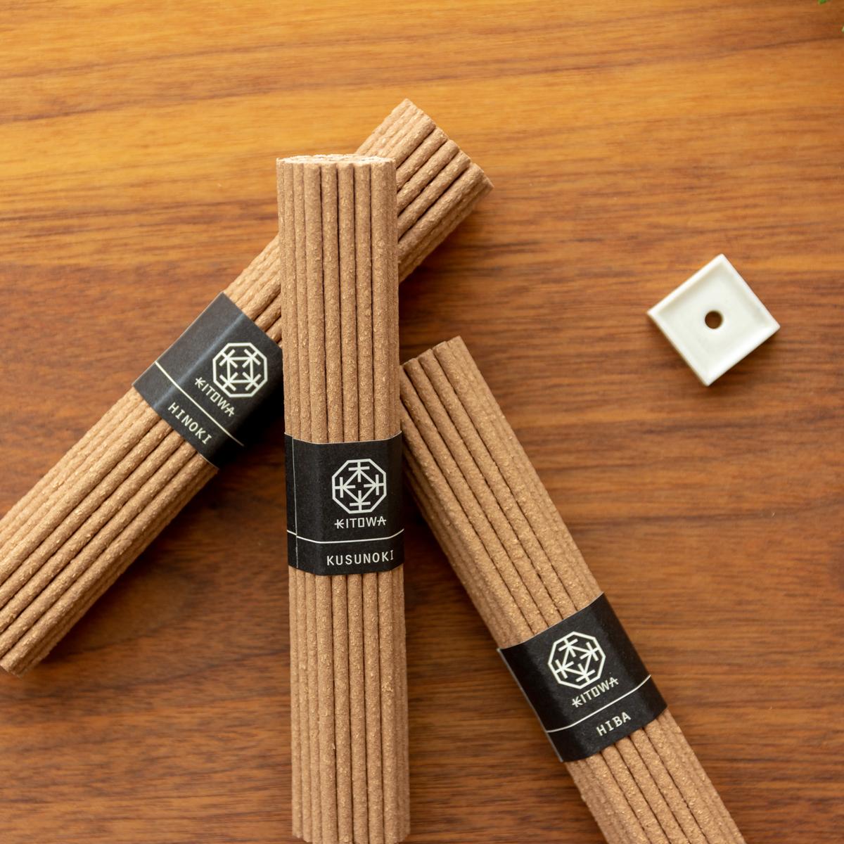 440年にもわたる伝統の薫香技術を礎に、受け継がれた至高の技で創香されたインセンススティック(お香)|KITOWA