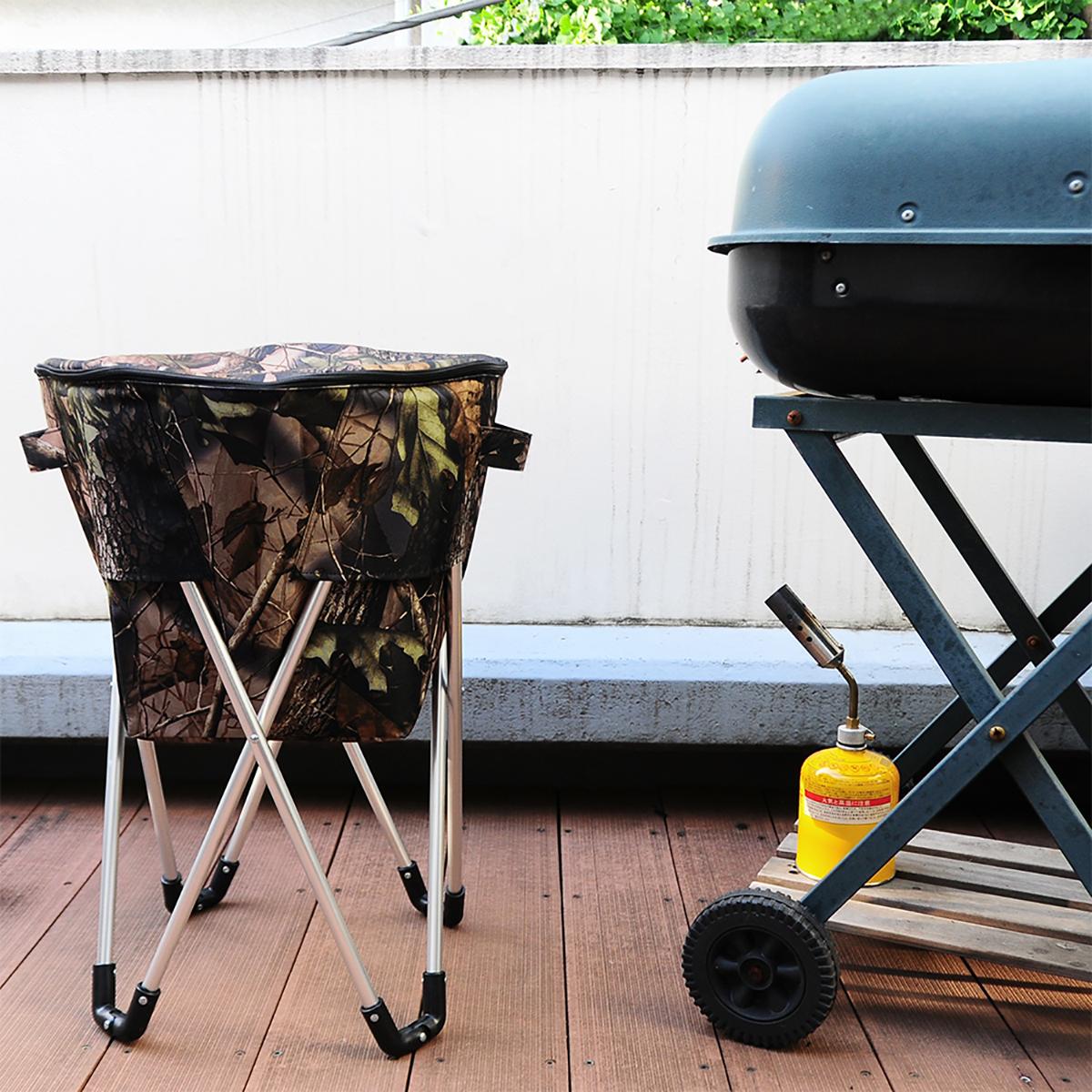 ビールもお肉も立ったまますぐ取り出せる、スタンド型クーラーバッグ|PARTY STAND COOLER