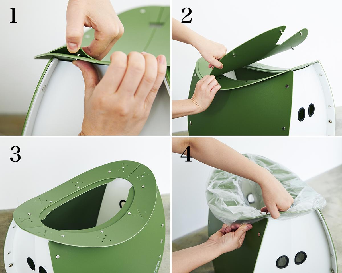 【ゴミ箱・簡易トイレの作り方】座面を外せば、ゴミ箱・防災トイレが出現する「折りたたみイス」|PATATTO PATATTO 350+