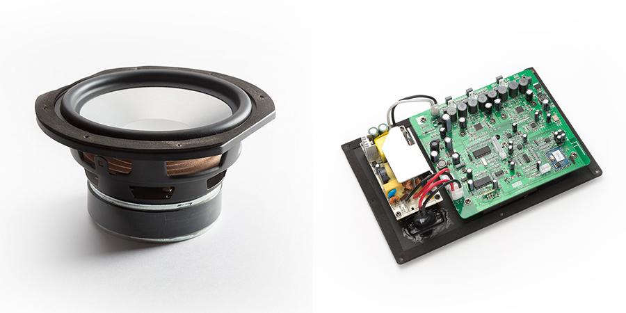 独自技術のスピーカーとクラスDデジタルアンプで、臨場感あふれる音。美しい家具のような高級スピーカー・オーディオ家具|La Boite Concept CUBE(ラ ボアット コンセプト キューブ)