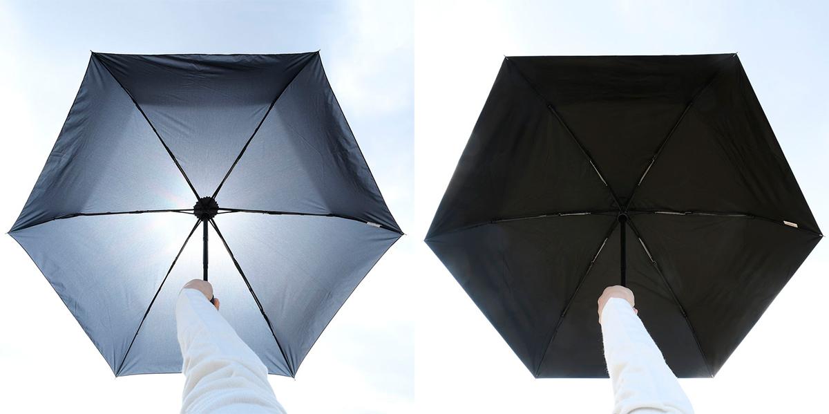 日かげを連れて歩ける、完全遮光生地!梅雨も真夏にも毎日持ち歩きたい「ワンタッチ開閉式折りたたみ傘(晴雨兼用)」|VERYKAL HEAT BLOCK