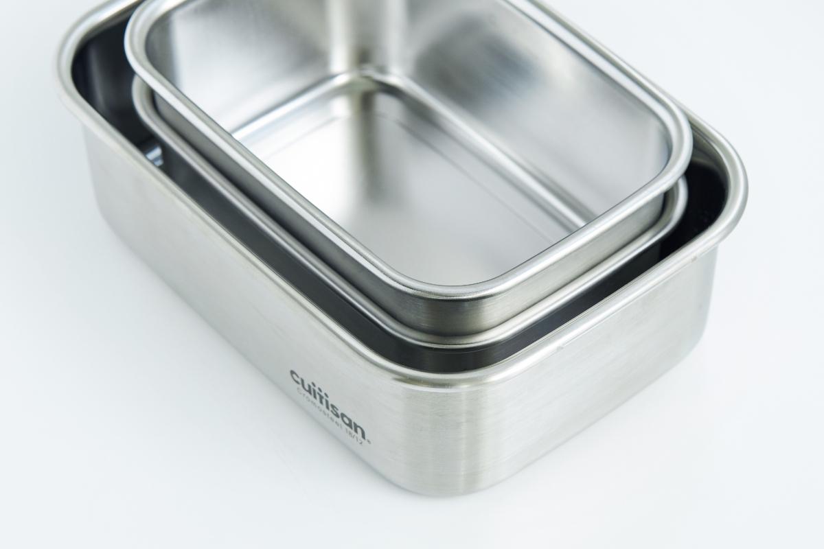 作り置き料理も便利な保存調理器|電子レンジ・オーブン・冷凍・食洗機OK、調理もできるステンレス保存容器(大中小3点セット)|cuitisan(クイッティサン)