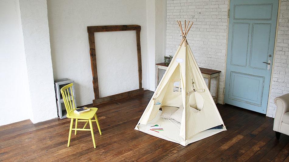 室内で作れるキッズテント・ティピー