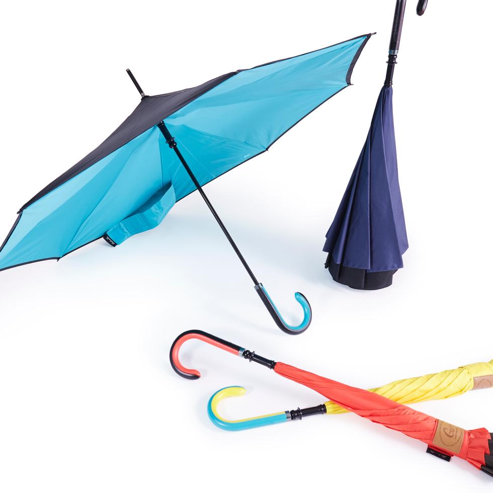 丈夫で色の組み合わせが楽しめる二重構造の傘布