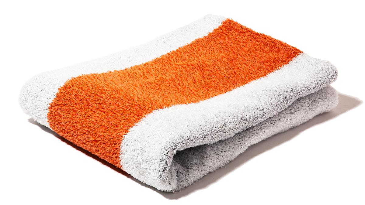 ホワイト×オレンジ|目も肌も喜ぶ、色鮮やかなオーガニックタオル|Hippopotamus(ヒポポタマス)