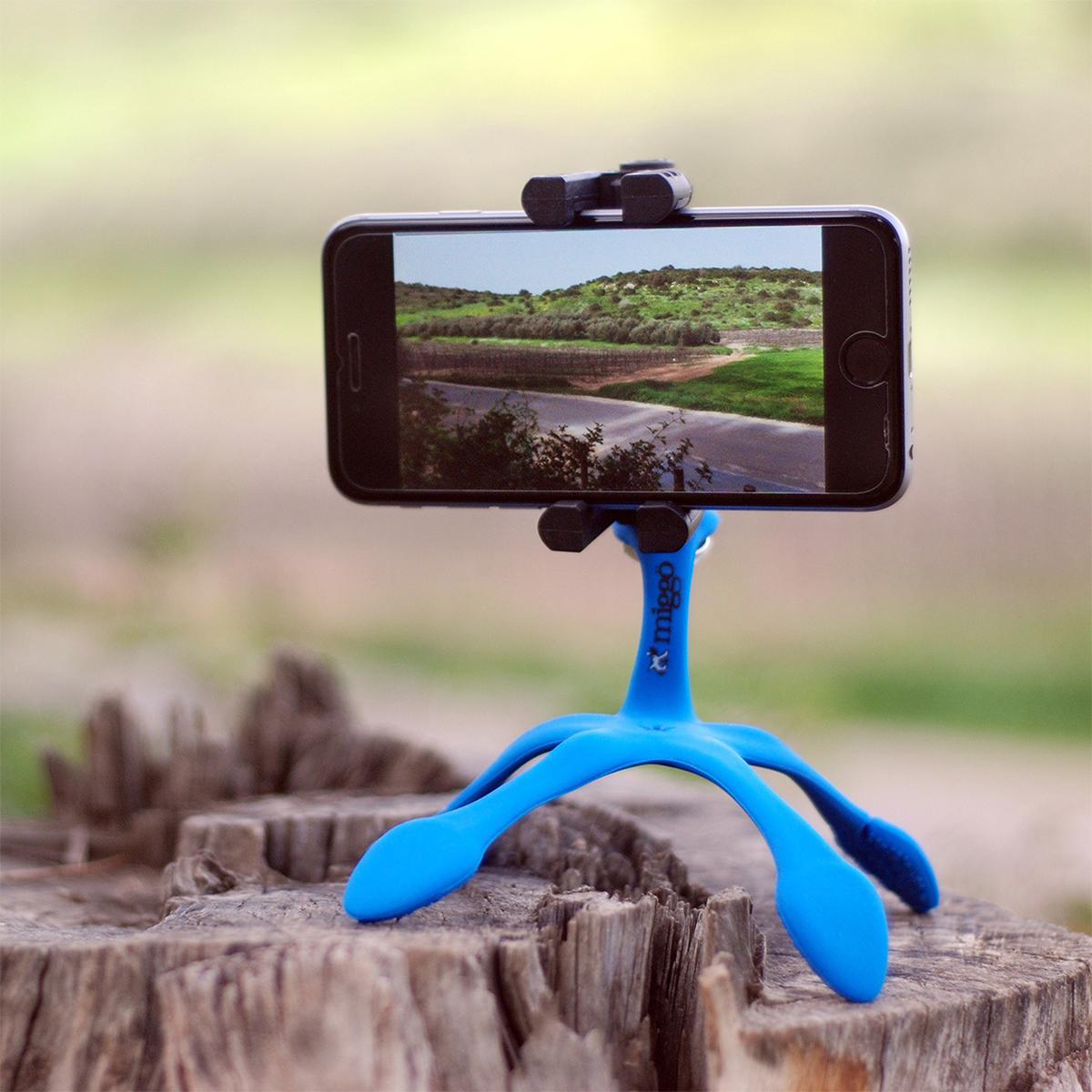 柔軟な5本足でスマホやカメラをどこにでも固定!カメラグリップにもなるスマホ&カメラ用スタンド| miggo