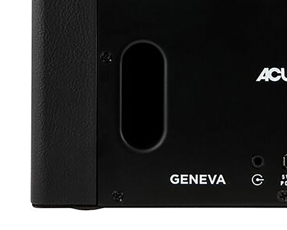 強力なウーファーユニット「バスレフ型」を搭載した、Hi-Fi オーディオ《Acustica Lounge》|GENEVA