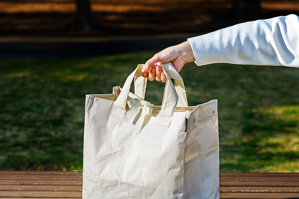 大人の雰囲気漂うアウトドア用のおしゃれなゴミ袋・ゴミバッグ|ROO Garbage(nonomana)- 開口部