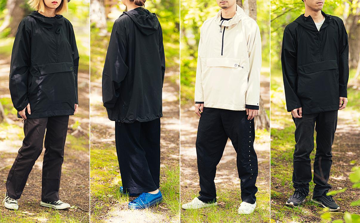 男女兼用のユニセックスデザイン(レディース・メンズ)|日中はサコッシュ、肌寒い朝晩はアウターに!水滴が滑り落ちる高撥水素材の「バッグ一体型パーカー」| SANYO ENJIN