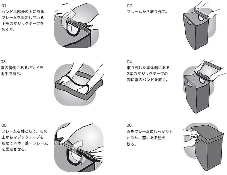 たためる金属フレーム入り!自立するから、柔らかいパンや葉物野菜、花を潰さない「箱型エコバッグ」|ADK Packworks