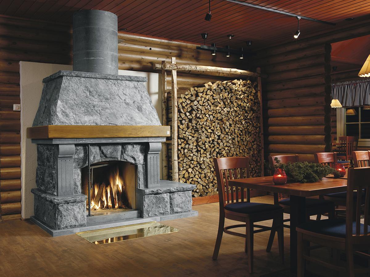 カレリアンソープストーンはフィンランドでは暖炉に使用されてきました|北欧フィンランド北東部の地底から発見された、カレリアンソープストーンの「マッサージストーン」|HUKKA DESIGIN(フッカ デザイン)