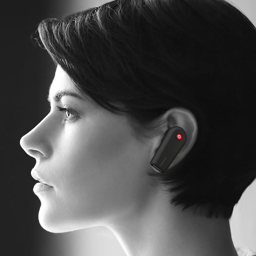 音が途切れにくい仕組み。新発想!耳から落ちない、音が途切れない、20時間再生OKのワイヤレスイヤホン|FUNOHM