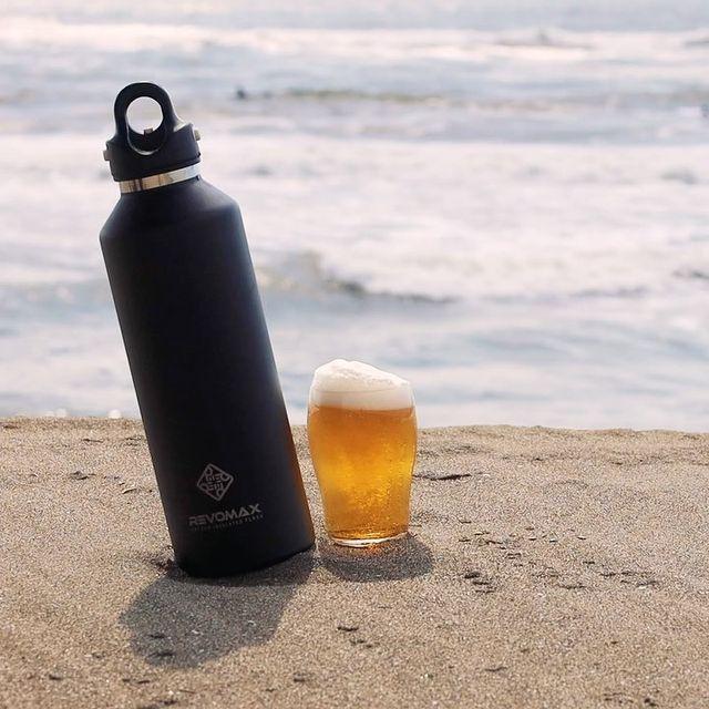 たった「指3本」で開け閉めできる。炭酸水もビールも36時間保冷、保温も18時間OKの「マイボトル」|REVOMAX(レボマックス)