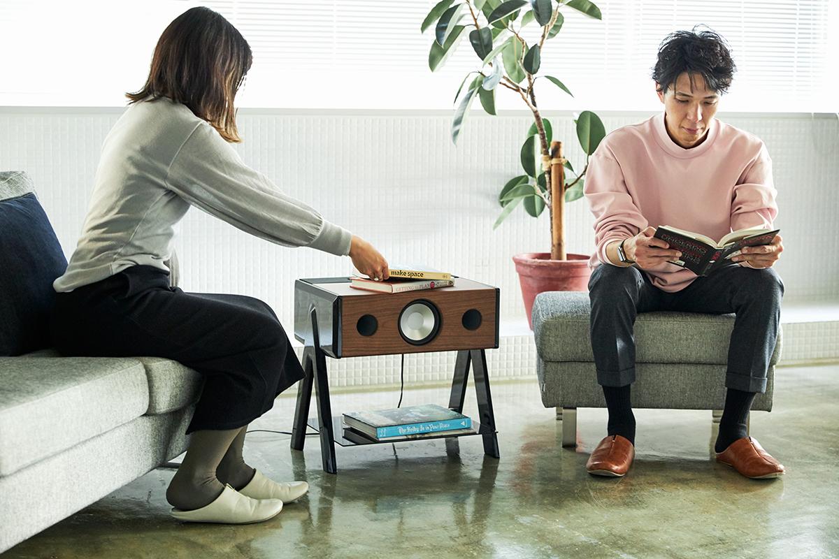 音響一家の技術が詰まった、美しい音。美しい家具のような高級スピーカー・オーディオ家具|La Boite Concept CUBE(ラ ボアット コンセプト キューブ)
