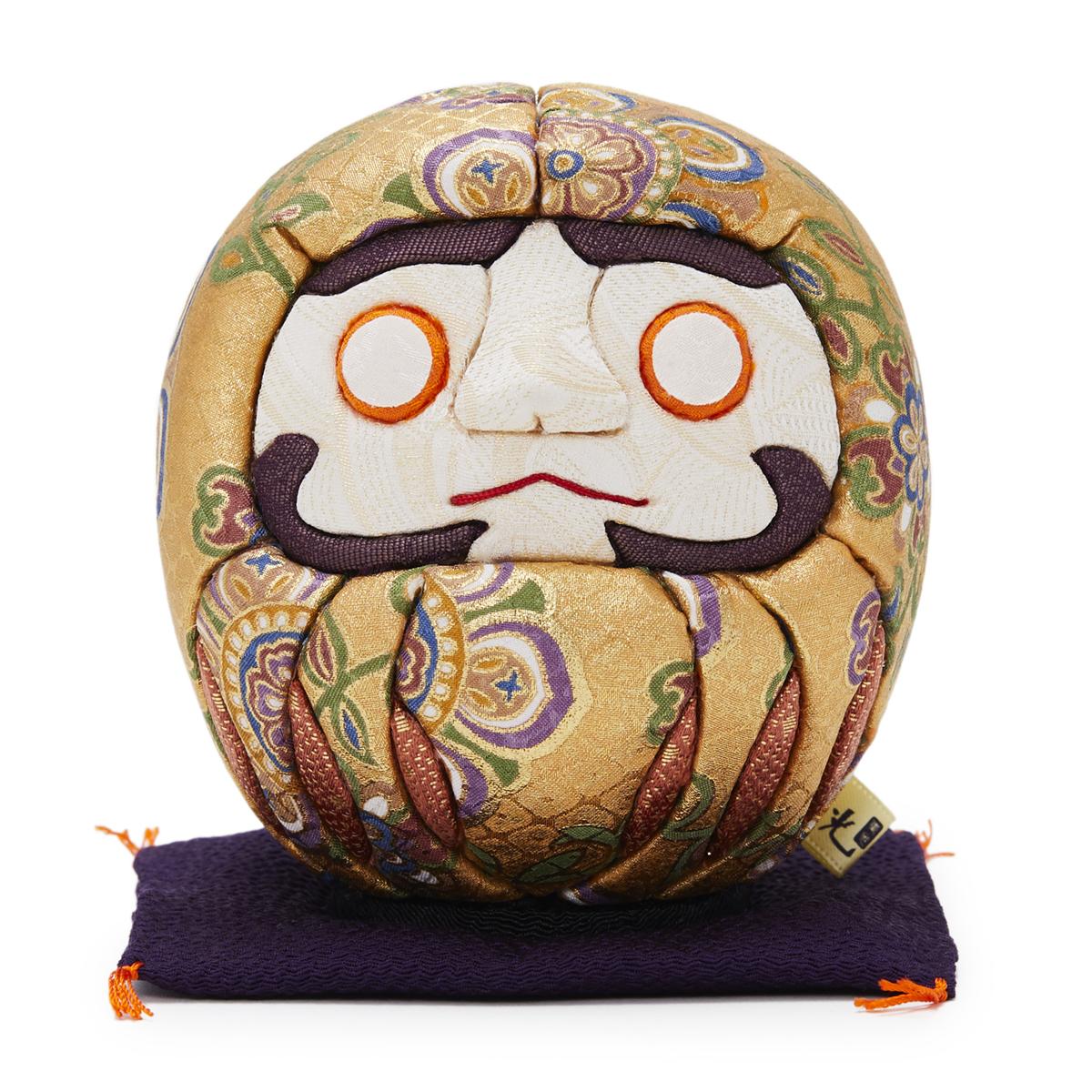 伝統の木目込み技術とモダンデザインが出逢った願掛けだるま 友禅染め・金|柿沼人形