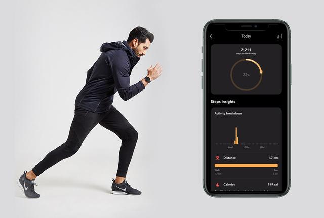 外で運動したい人は、専用アプリから「ランニング」「ウォーキング」を選んで、いざスタート!24時間、あなたの活動量も睡眠も見守ってくれるスマートウォッチ|noerden(ノエルデン)