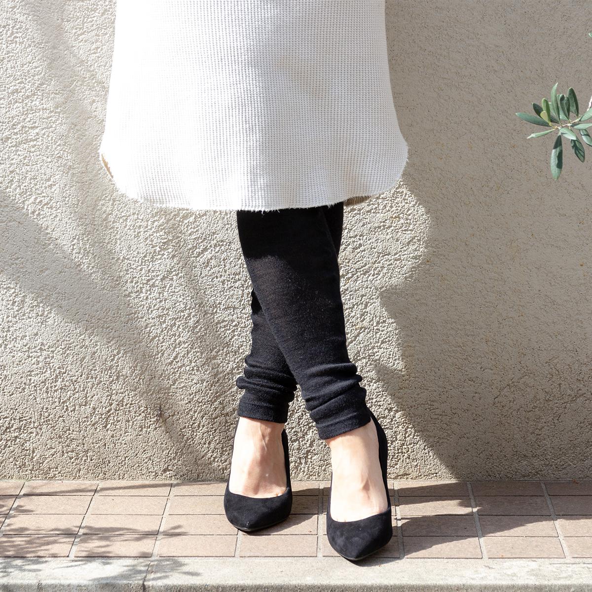 手洗いOK、高品質の日本製の一度しか採れないベビーアルパカのうぶ毛だけで編んだ、あったかレギンス|ロイヤルベビーアルパカ