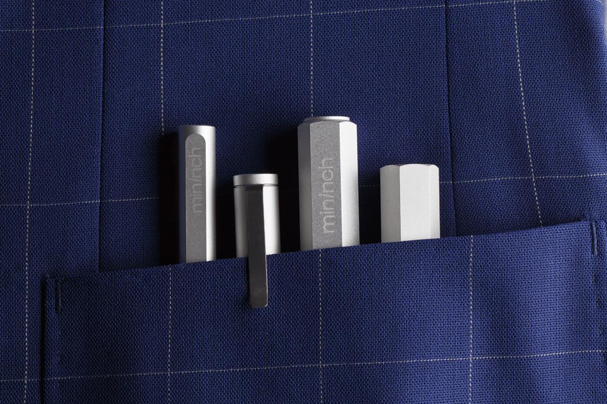ロケット鉛筆のように先端ビットを交換できる工具|mininch
