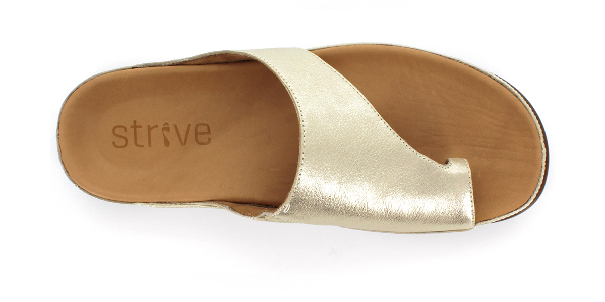 足裏全面をサポートする、独自開発の立体インソールで、スニーカーみたいに歩き回れる「サンダル」|strive