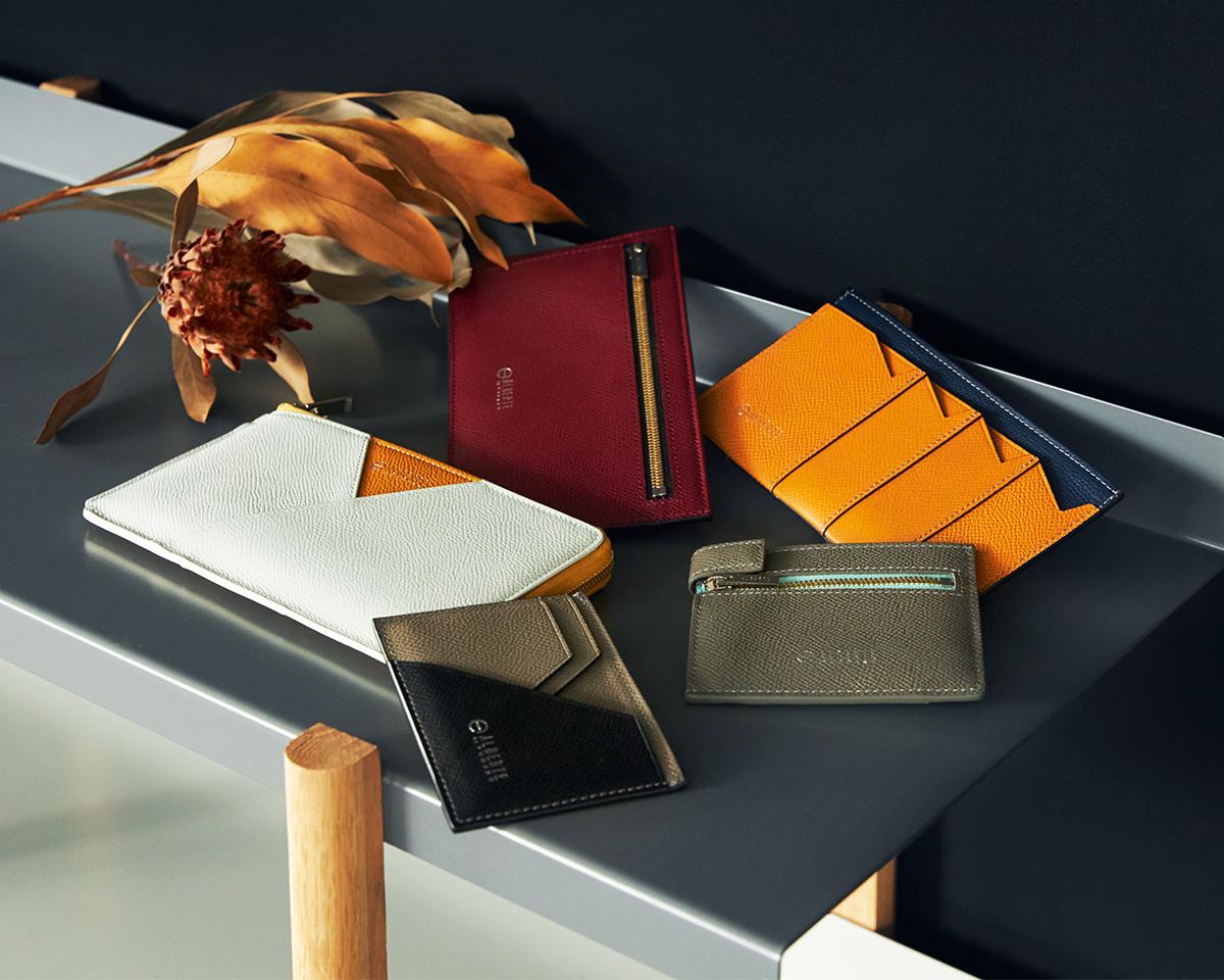 コンパクトで洗練されたデザイン。無理なくミニマムを極めた、「薄い財布」の傑作(長財布、二つ折り財布、パスケース、カードホルダー)|ALBERTE
