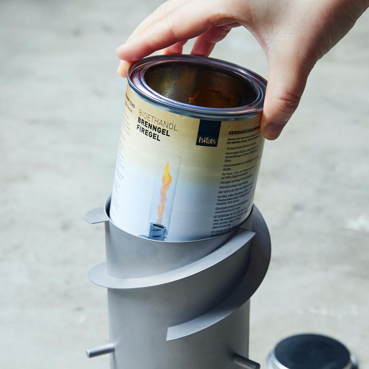 設置方法2|煙突効果で炎が廻りながら上昇!煙が出にくい安全燃料の「テーブルランタン&ガーデントーチ」|Hofats SPIN(ホーファッツ スピン)