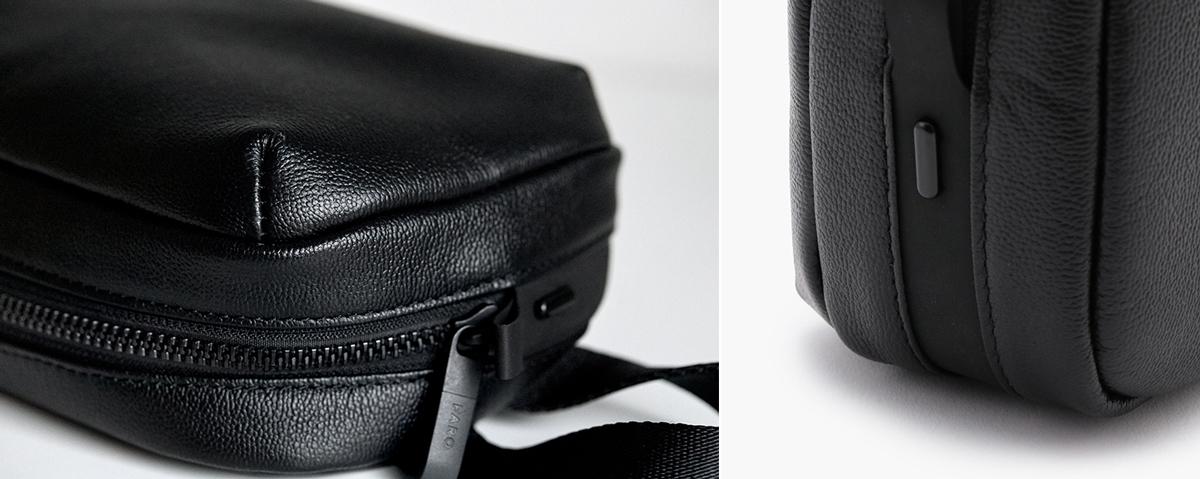 整理整頓しやすいバッグの仕切り・ポケット構造 防水レザー、超軽量、直感ポケット付きの日本製レザーバッグ PCバッグ・トートバッグ・リュック・バックパック FARO(ファーロ)