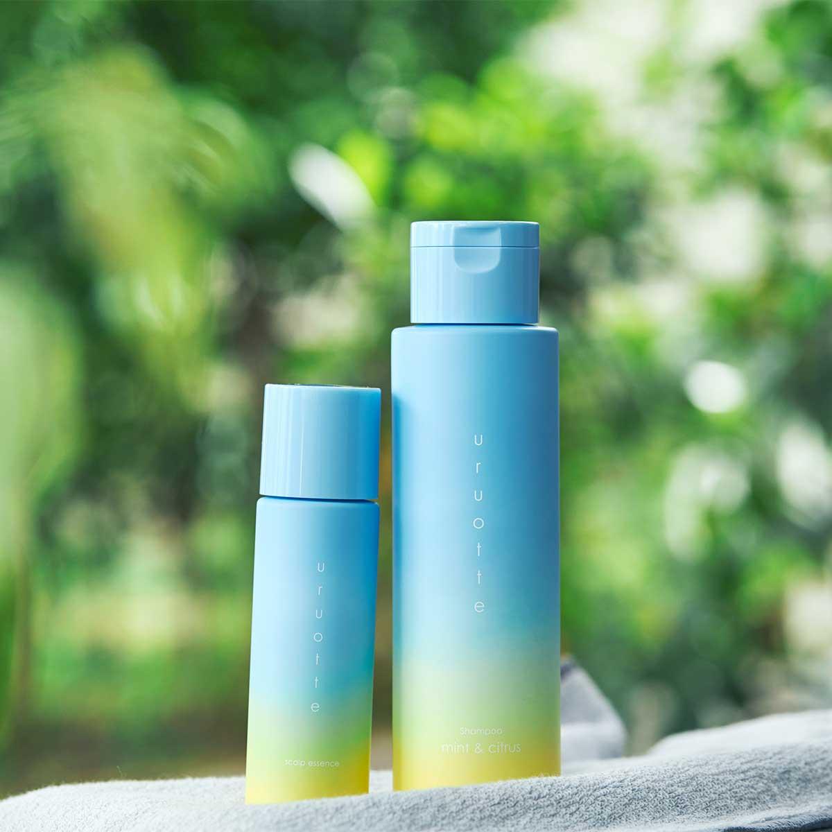 悩み多き夏の頭皮を、一瞬で快適にしてくれる、夏限定のヘアケア・アイテム|『uruotte(ウルオッテ)』のナチュラルシャンプー「ミント&シトラス」とハーバルエッセンス「爽」(薬用育毛料・医薬部外品)