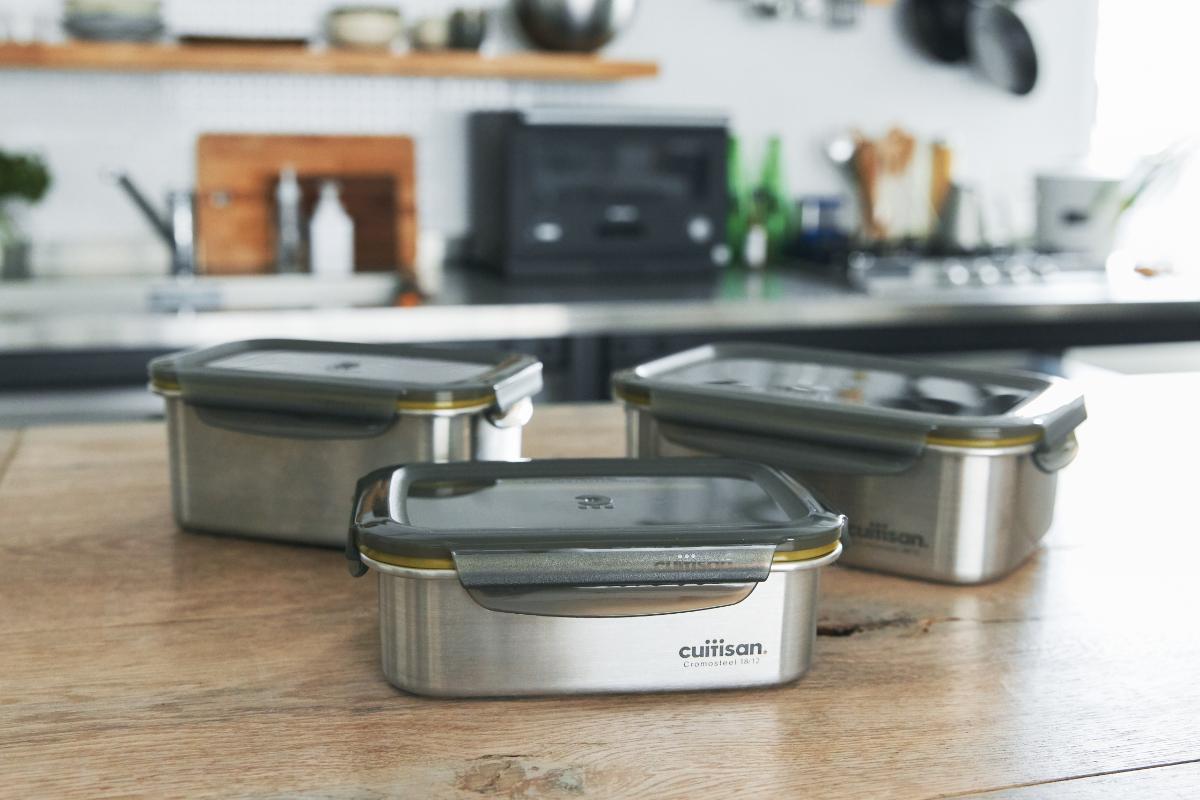 下ごしらえ・加熱・保存までできるから便利|電子レンジ・オーブン・冷凍・食洗機OK、調理もできるステンレス保存容器(大中小3点セット)|cuitisan(クイッティサン)