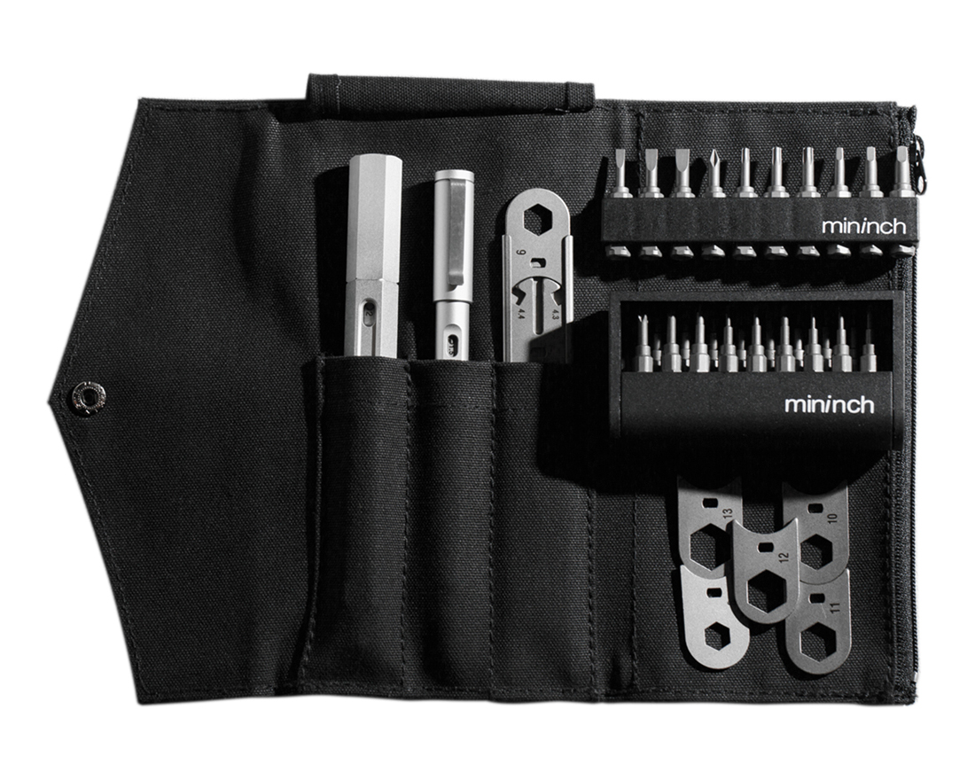 ロケット鉛筆のように先端ビットを交換できる工具「フルセット」|mininch